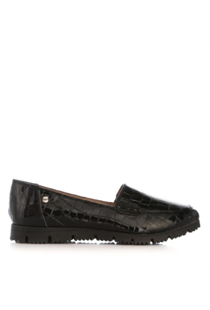 UK Polo Club 64705 Kadın Günlük Ayakkabı Siyah Kroko Rugan