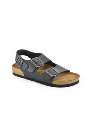 Real Natura 121-Gordion Siyah Kadın Sandalet