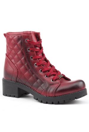 Siber 7321-B Günlük Topuklu Termo Taban Bayan Bot Ayakkabı