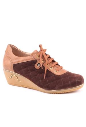 Dizzy 3002 Günlük Süet Dolgu Taban 5 cm Bayan Ayakkabı