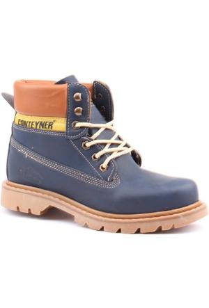 Conteyner 923 Kışlık Soğuk Geçirmez Erkek Kar Botu Ayakkabı