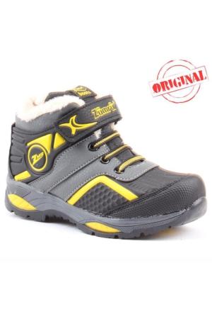 Zümrüt 2704 S İçi Termal Kürklü Erkek Çocuk Spor Bot Ayakkabı