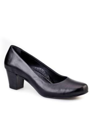 Cabani Comfort Kadın Ayakkabı Siyah Analin Deri