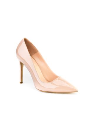 Cabani Stiletto Günlük Kadın Ayakkabı Bej Rugan