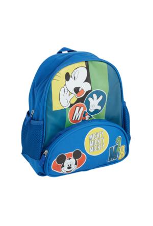 Soo be Disney Mickey Mouse Erkek Çocuk Sırt Çantası Saks 25X30X9