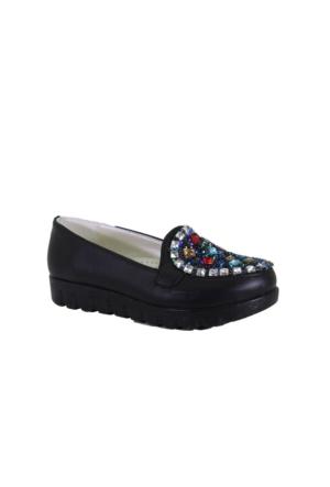 Despina Vandi Hsl 35-1 Çocuk Günlük Taşlı Babet Ayakkabı