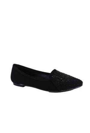 Oflaz Y-16151 Kadın Günlük Taşlı Babet Ayakkabı