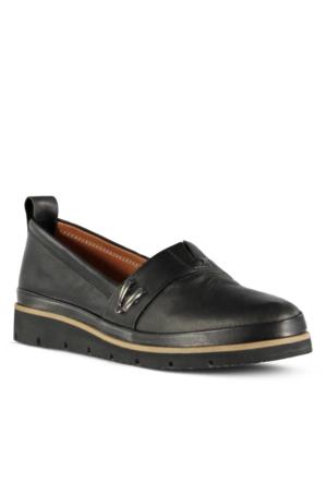 Marjin Avenge Düz Deri Ayakkabı Siyah