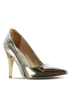 Marjin Asiyso Topuklu Ayakkabı Altın