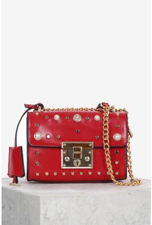 İlvi Seas B26355 Omuz Çanta Kırmızı