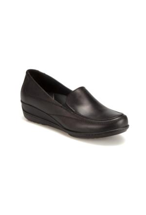 Polaris 5 Nokta 62.107523.Z Siyah Kadın Deri Ayakkabı