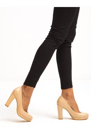 Mecrea Exclusive Alba Ten Rugan Platform Topuklu Ayakkabı