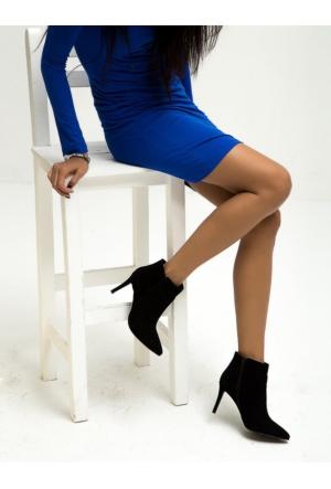 Mecrea Exclusive Clara Siyah Süet Bootie