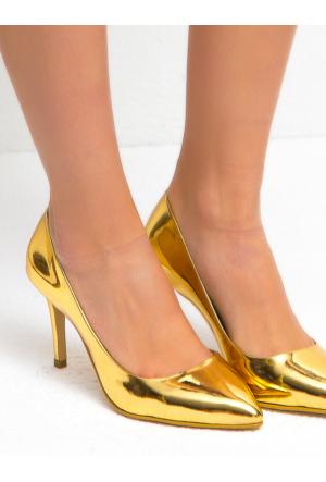 Mecrea Exclusive Leila Altın Ayna Dekolte Stiletto