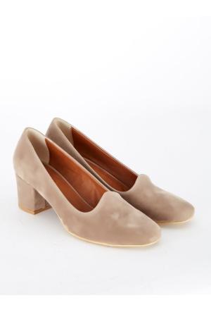 Mecrea Exclusive Petite Vizon Süet Düşük Topuklu Ayakkabı