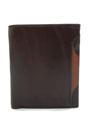 Tony Bellucci M15-913 Kahverengi Gerçek Deri Kartlıklı Erkek Cüzdan