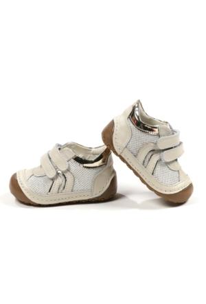 Sanbe 305 I 4109 Deri İlkadım Ayakkabı Krem