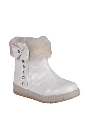 Sanbe 112 G 710 Suni Deri Ayakkabı Beyaz