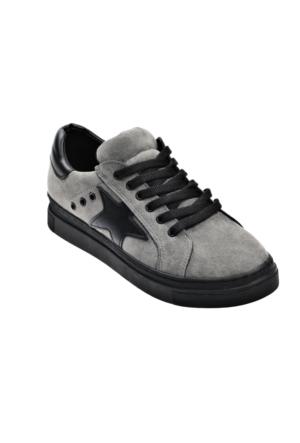 Ayakkabı - Gri Siyah Yıldız - Zenneshoes