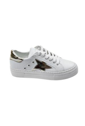 Ayakkabı - Beyaz Altın Yıldız - Zenneshoes