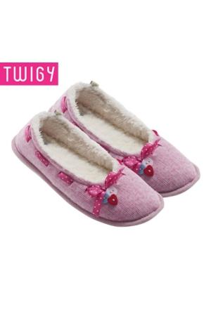Twigy Tw Elvera, Pembe Bayan Babet, Bayan Ayakkabısı, Ev Patiği