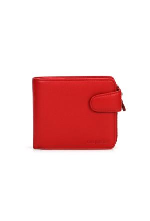 Cengiz Pakel Hakiki Deri Cüzdan 65112 Kırmızı
