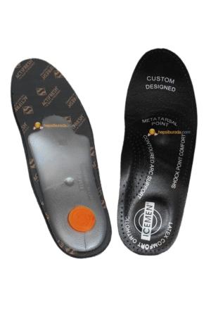 İcemen Ortapedik 101k Deri Ayakkabı İç Tabanı Siyah