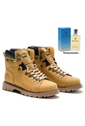 Shoes&Moda Su ve Soğuk Geçirmez Erkek Bot 50ml Erkek Parfüm Hediye