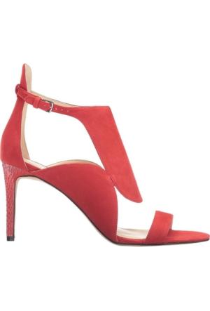 Nine West Nwdenita Kırmızı Gerçek Süet Sandalet