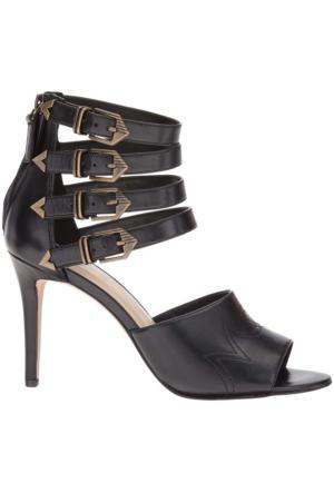 Nine West Nwnoah Siyah Deri Sandalet