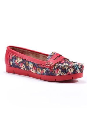 Park Moda Günlük Çiçek Desenli Bayan Babet Ayakkabı