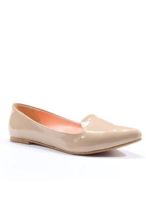 Asm Günlük Stiletto Rugan Bayan Babet Ayakkabı