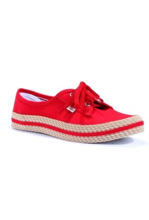 Armoni Günlük Keten Convers Bağcıklı Bayan Ayakkabı