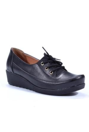 Sezen Bağcıklı Dolgu Topuk Ayakkabı