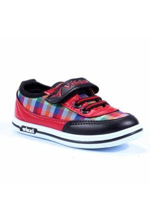 Wikki Desenli Cırtlı Erkek Çocuk Spor Ayakkabı
