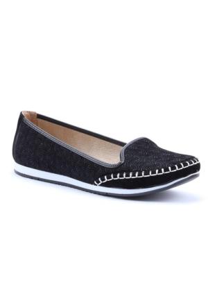 Alens 2465 Günlük Desenli Bayan Babet Ayakkabı