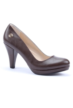 Cudo Paltform Topuk Cilt Bayan Ayakkabı