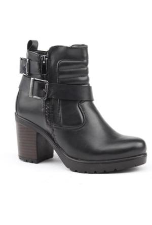 Jump 14350-A Günlük Fermuarlı Termo Taban Bayan Bot Ayakkabı