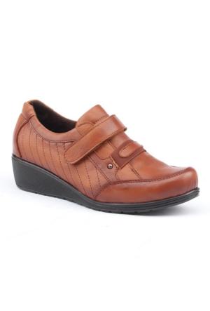 Siber 7502 %100 Deri Günlük Ortopedik Bayan Ayakkabı