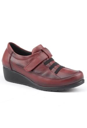 Siber 7507 %100 Deri Günlük Ortopedik Bayan Ayakkabı