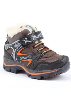 Zümrüt 2700-K İçi Termal Kürklü Erkek Çocuk Spor Bot Ayakkabı