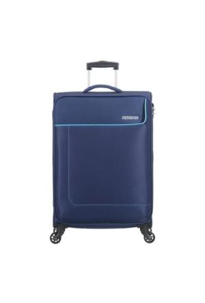 American Tourister Funshine-66 Cm Orta Boy Dört Tekerlekli Valiz Orion Blue