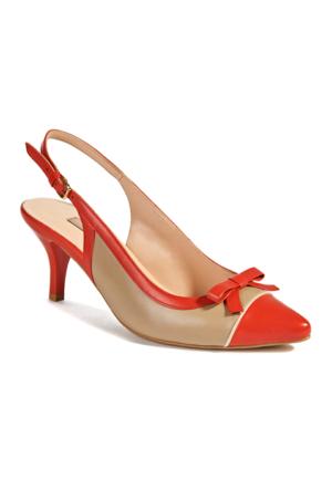 Desa Betria Kadın Klasik Ayakkabı Mercan - Taba