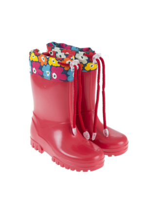 Soo Be Kız Çocuk Yağmur Botu Kırmızı (26-35 Numara)