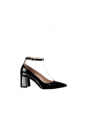 Elle Carlas Bayan Siyah Rugan Ayakkabı