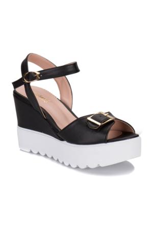 Polaris 61.308565.Z Siyah Kadın Sandalet