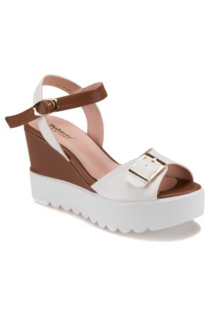 Polaris 61.308565.Z Beyaz Kadın Sandalet