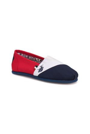 U.S. Polo Assn. A3352277 Lacivert Beyaz Kırmızı Kadın Ayakkabı