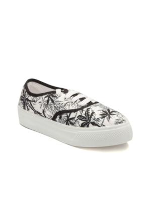 Kinetix A1302910 Beyaz Siyah Kadın Ayakkabı