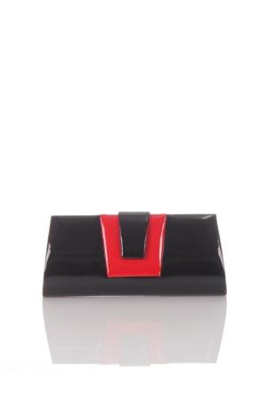 Berramore 7519-8 Siyah-Kırmızı Rugan Abiye Çanta